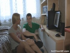 Where can a teen couple get the money to buy a new plasma TV? Some rich guy they met online offered  Thumb