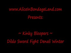Dildo Mitt Sword Fighting with Denali and Alice Thumb