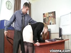 bad secretary penalized with spanking and anal sex Thumb