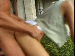 Teenager takes dick outdoors and loves it Thumb