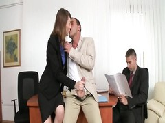 gorgeous Secretary 3some  dp Thumb