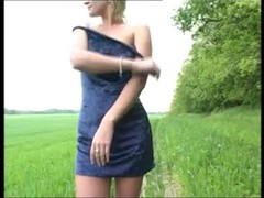 Outdoor sex with slutty MILF showing all you want and don't want to see Thumb