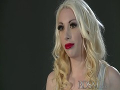 BDSM XXX Sexy blonde gets hooded and suspended Thumb