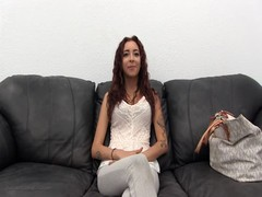 Kinky redhead slut is spreading her legs in the video by Backroom Casting Couch Thumb