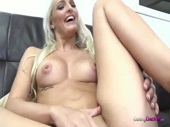 Glamour blonde gives an amazing head in the video by Casting Couch X Thumb