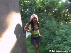Hottie deeply drilled in the woods by a rich dude with some cash Thumb