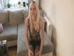 German Non-Professional Golden-Haired pulverized and spunk  on bootie + pov Thumb
