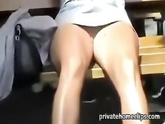 Without panties flashing her pussy Thumb