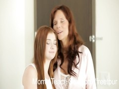 Moms lisp hookup - Redhead teenage  gets sex course from stepmom Thumb