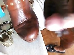 spunk  on my wife ankle shoes! Thumb