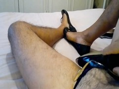 cum in my wife's ballet flats with my femenine boots on! Thumb
