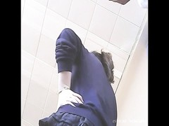 College oriental upskirt at airport Thumb
