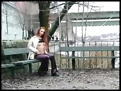 Swedish Redhead Amandla enjoys Public hookup Thumb