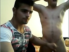two  Spanish good-looking Boys accelerate gay On Cam 1st TimeBubble, cabooses Thumb