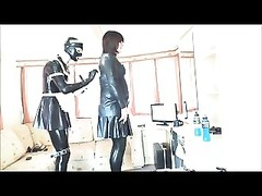 Rubberkate grinds  her tgirl Mistress Thumb