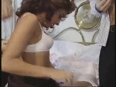 scorching hungarian redhead got double pounded on the bed Thumb