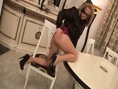 Hungarian beaty Britney clothed sex on a table Thumb
