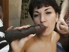 short gloomy hair Hungarian Claudia double-teamed Thumb