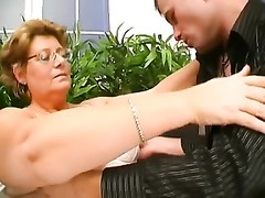 Hungarian Glasses-BBW-Granny drilled by young dude Thumb