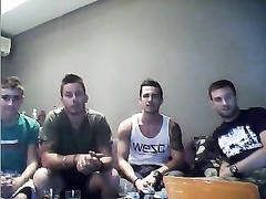 four Webcam Greek Boys uncover Their warm cabooses  On Cam Thumb