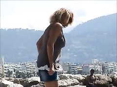 unbelievable french dame topless french riviera Thumb