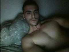 French Muscle man With paunchy jizz-shotgun salami  onanism  On Cam Thumb