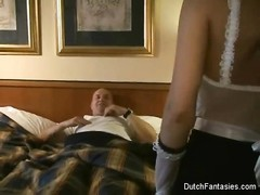 Dutch Maid pulverizes Hotel Room Guest! Thumb