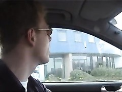 Car hookup with blondy Dutch chick Katya Thumb