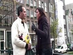 Dutch hooker throating on a tourists stiffy Thumb
