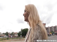 Czech blonde with a brilliant pair of orbs  is paid for some POV Thumb
