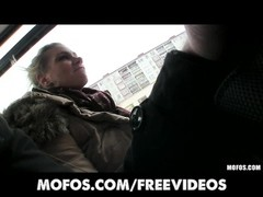 elegant Czech yellow-haired is picked up on the bus for public sex Thumb