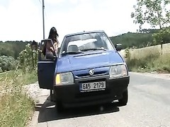 Czech hoe hook-up  in car Thumb