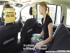 Czech Taxi - blonde teenage  gets prance of her LIFE Thumb