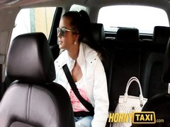 HornyTaxi steaming youthfull  Czech chick blows jizz-shotgun to pay for her fare Thumb