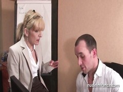 inexperienced thin blonde down ass-fuck  plugged hard at office Thumb