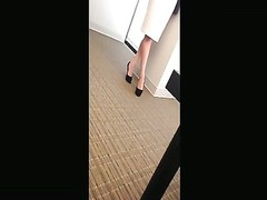 impartial remarkable  fatigued  Feet Shoeplay Dipping at the Office Face Thumb
