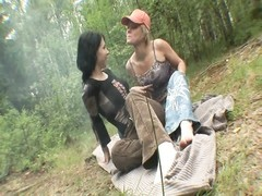 inexperienced - 2 teens Outdoor without a condom  anal invasion group sex Thumb