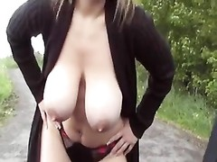 huge-titted Hooker blowing and tearing up on the Road BVR Thumb