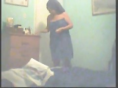 unsuspecting SIL dressing on hidden cam Thumb