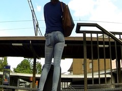 impersonal - affable bootie In denims At stutter site Thumb