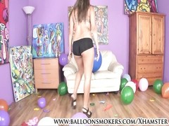 teenage  pops balloons in heels Thumb