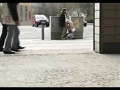 German yellow-haired sex in public Thumb