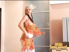 large tit Arabian belly Dancer in a totally naked middle Eastern Mujra Dance Thumb
