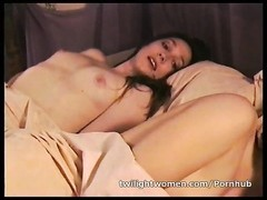 poor lesbo Ann Ampar wanks while lesbo guy Robin delight sleeps Thumb