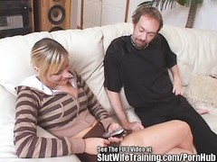 Acrobatic blondy wifey  Gets cootchie pumelled! Thumb