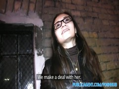 PublicAgent Russian honey  gets nailed for cash in her glasses Thumb