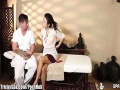 massage turns to Cheating for wild girl Daisy Haze Thumb