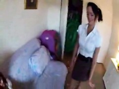 mom talked stepdaughter into deep throating & pulverizing dad Thumb