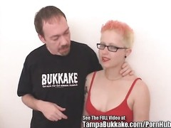 Punk dame plumbs Glass toy and dirty D's manmeat! Thumb