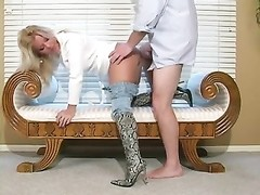 scorching blondie mature In boots deep throat and Bang- Pt two Thumb